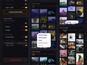 Photo Stream - Minimalistic Photo Gallery Sketch Resource