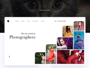 写真家のポートフォリオのコンセプトSketchリソースをSketchします