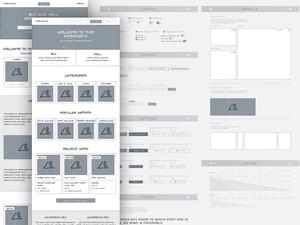 Low Fidelity Wireframing System Sketch Resource