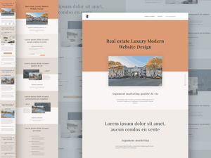 Real Estate Luxury Website Design Sketch Resource
