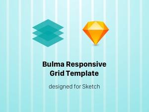 Bulma Responsive Grid Template Sketch Resource