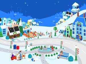 Google Santa Tracker Illustration Sketch Resource