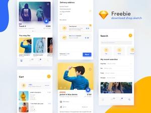 Shop Concept App Sketch Resource