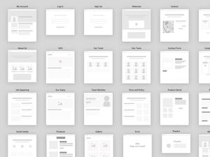 Sitemap Graphics Kit Sketch Resource