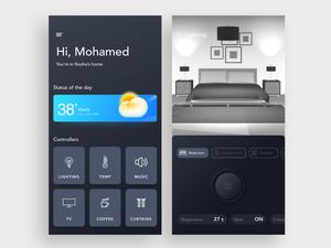 Smart Home App Screen Sketch Resource