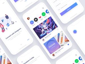 Social Network for Designers Sketch Resource