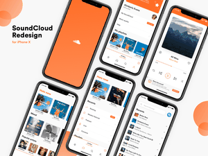 SoundCloud iOS Concept Sketch Resource