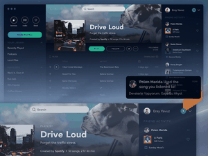 Spotify App for macOS Mojave Sketch Resource