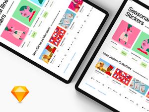 Stickers Shop App Sketch Resource