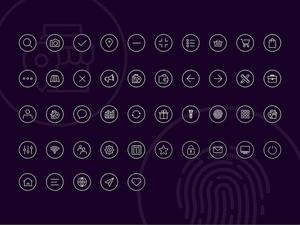 Stroke Icon Set Sketch Resource