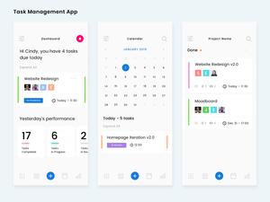 Task Management Screens Sketch Resource