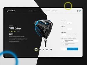 Golf Company Página de inicio Concepto Sketch Recurso