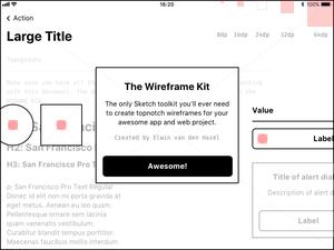 Lightweight Wireframe Kit Sketch Resource