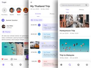 Travel App Concept Sketch Resource