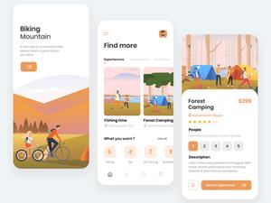 Travel App концепция эскиз ресурс