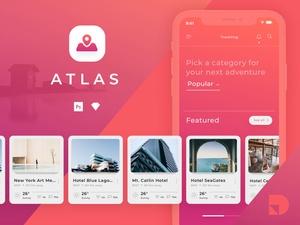 Travel App UI Kit Sketch Resource
