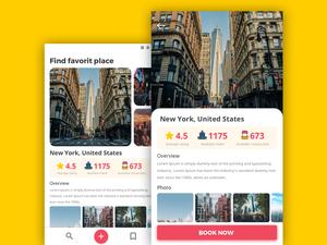 Travel App Screen Sketch Resource
