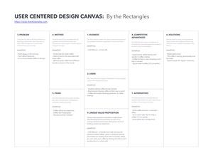 User Centered Design Canvas Sketch Resource
