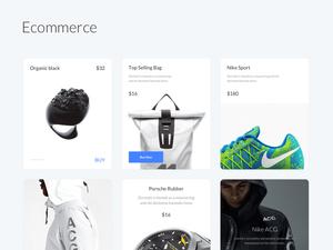 Ecommerce UI Kit – Cards Layout