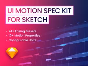 UI Motion Spec Kit Sketch Resource
