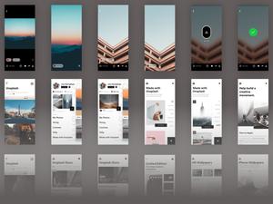 Unsplash iOS UI Kit Sketch Resource