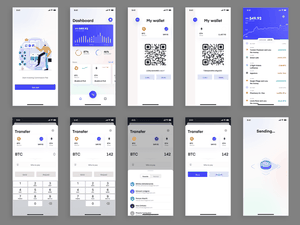 Virtual Currency Wallet Concept Sketch Resource