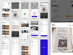 Wallet App Concept Sketch Resource