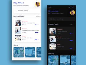 Cursos de seminario web Concepto de pantalla de aplicación Recurso de boceto