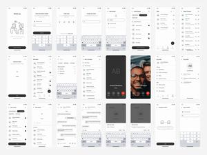 Messaging App UI Kit Sketch Recurso