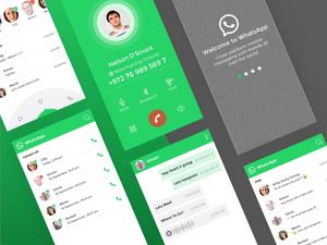 WhatsAppコンセプトはリソースをSketchします