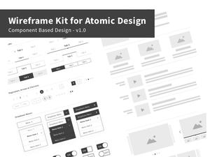 Wireframe Kit for Atomic Design Sketch Resource