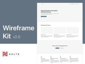 Nolte Wireframe Kit v2 Sketch Resource