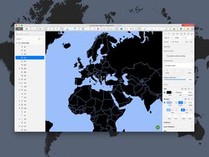 Mapa del mundo con todos los países Sketch Recurso
