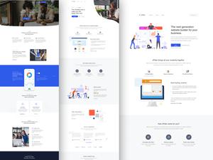 Landing Page Templates Sketch Resource