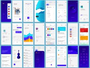 Yolk iOS ui комплект эскиз ресурс