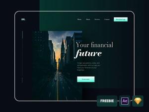 Financial Website Template