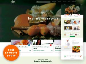 Food Website UI Concept
