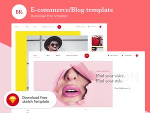 E-Commerce / Blog Template