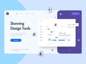 Design Tool Landing Page Header