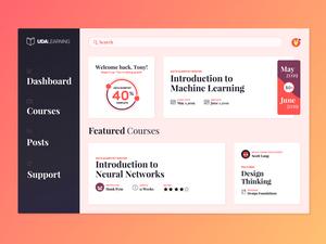 E-Learning Courses Dashboard