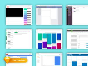 Popular Web App Layouts & Wireframes