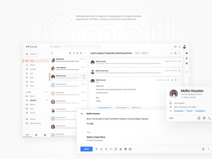 Gmail Redesign in Sketch