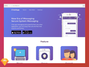 Landing Page for Chat App