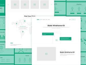 Blokk – Smart Wireframe Kit Sample