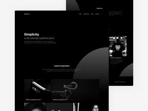 Minimal Black & White Website Template
