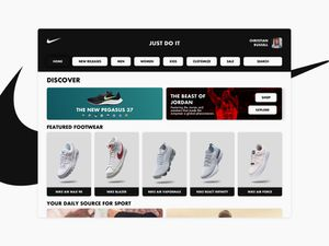 Nike Online Store Redesign Template