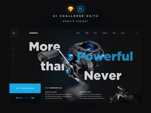 Shimano Fishing Website Concept