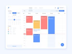 Timetracker Web App Concept
