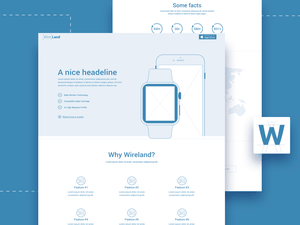Wireland – Sketch Wireframing Template Sample